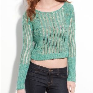 Free People Knit green Sweater Size Medium